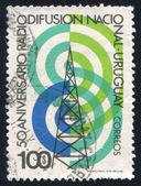 Radio Tower and Waves — Stock Photo