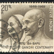 Mahatma Gandhi and wife Kasturba — Stock Photo #13191506
