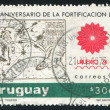Emblem and Old Map of Montevideo Bay — Stock Photo