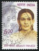 Woman Kranti Trivedi — Zdjęcie stockowe