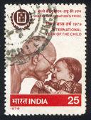 Mahatma Gandhi and child — Stock Photo