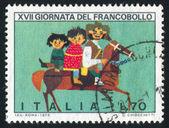 Children on horse — Stock Photo