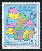 Mapa prowincji urugwaju — Zdjęcie stockowe