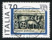 Winkelwagen van zuil trajanus — Stockfoto