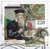 Scientist Gerardus Mercator — Stock Photo