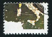 Mapa de italia — Foto de Stock