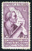 Amerigo Vespucci und Karte — Stockfoto