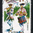 Piper and drummer, Granada Regiment — Stock Photo