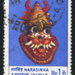 图库照片: Mask of Narasimha