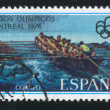 Rowing at Montreal Olympic Games — Stock Photo