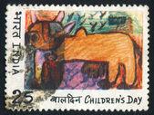 Målning av ko — Stockfoto