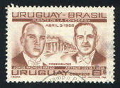 Presidents Jorge Pacheco Areco of Uruguay and Arthur Costa — Stock Photo
