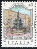 Neptune fountain in Bologna — Stock Photo
