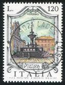 Great fountain in Viterbo — Foto de Stock