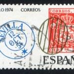 Spanish postage stamps — Stock Photo #13595925