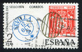 Spanish postage stamps — Stock Photo