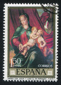 Madonna and Child by Morales — Стоковое фото