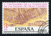 拉斯帕尔马的地图 — 图库照片