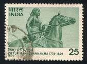 Statue of Rani Channamma — Стоковое фото
