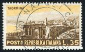 Roman ruins in Taormins — Stock Photo