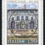 Постер, плакат: Courtyard Uffizi Gallery in Florence by Giorgio Vasari