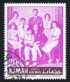 John Kennedy and his Family — Stock Photo