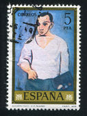 SPAIN - CIRCA 1978: stamp printed by Spain, shows self-portrait of Picasso, circa 1978 — Stock Photo