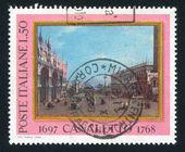 Kleine saint mark plaats door canaletto — Stockfoto