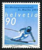 альпийский лыжный чемпионат — Стоковое фото