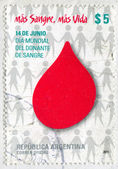 Emblem of World day of Blood Donors — Stock Photo