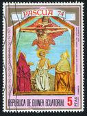 Trinity and Saint Jerome by Castagno — Stock Photo