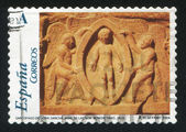 деталь саркофаг санча дона — Стоковое фото