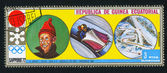 EQUATORIAL GUINEA - CIRCA 1972: stamp printed by Equatorial Guinea, shows Bobsleigh, circa 1972 — 图库照片