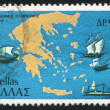 Map of Greece and Ships — Stockfoto #15273007