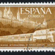 Escorial and Streamlined Train — Stock Photo