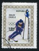 滑雪 — 图库照片