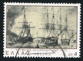 Sea battle of Navarino — Stockfoto