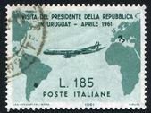 Plano de vuelo de italia a uruguay — Foto de Stock