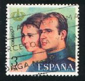 Qween Sofia and King Juan Carlos I — Stock Photo