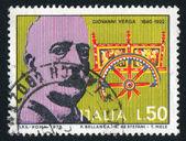 Giovanni verga och sicilianska vagn — Stockfoto