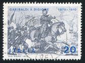 Garibaldi at battle of Dijon — Stock Photo