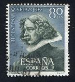 SPAIN - CIRCA 1972: stamp printed by Spain, shows Self-portrait of Velazquez, circa 1972 — Stock Photo