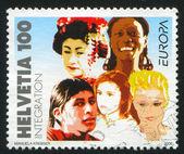 SWITZERLAND - CIRCA 2006: stamp printed by Switzerland, shows , circa 2006 — Stock Photo