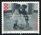Child kissing by Rene Burri — Stock Photo