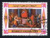 Queen Sheba on Throne — Stock Photo