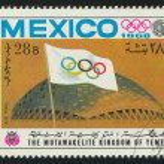 Flag and Stadium — Stock Photo #18452843