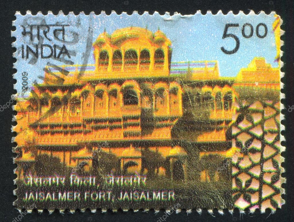 INDIA - CIRCA 2009: stamp printed by India, shows Jaisalmer Fort, building, circa 2009 — Stock Photo #18454477
