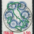 Map of Italy and rotary emblem - Lizenzfreies Foto