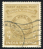 First Airmail Postmark — Stock Photo
