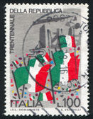 Italienska flaggor — Stockfoto